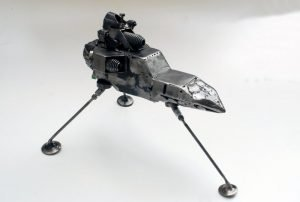 space shuttle metal sculpture