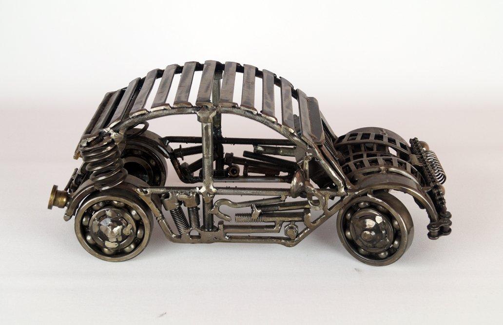 metal car sculpture