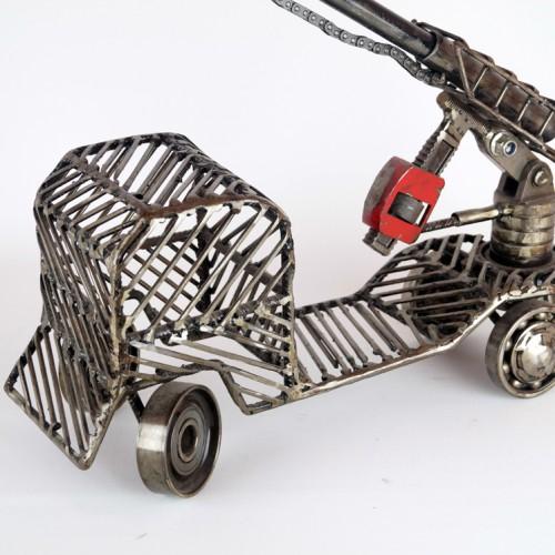 metal sculpture truck