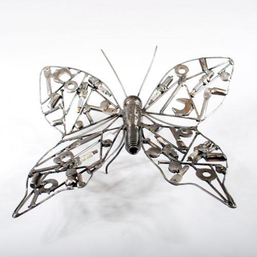 wall metal sculpture butterfly