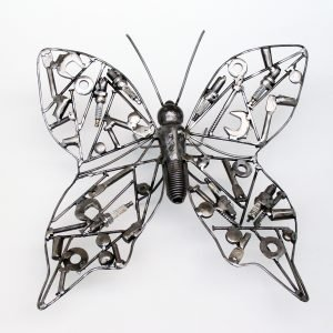 wall metal sculpture butterfly