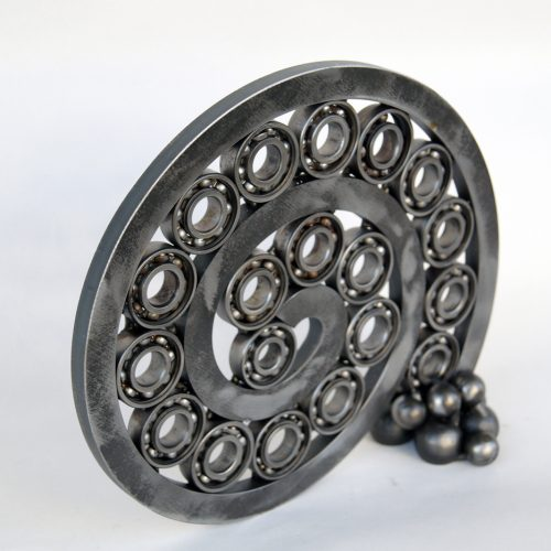 Ball bearing art sculpture