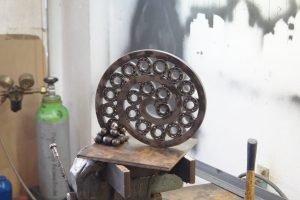 Ball bearing art sculpture