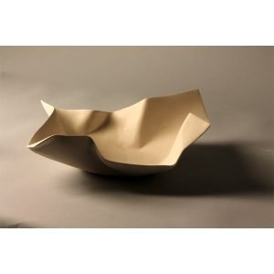 Ceramic container - wrapped paper
