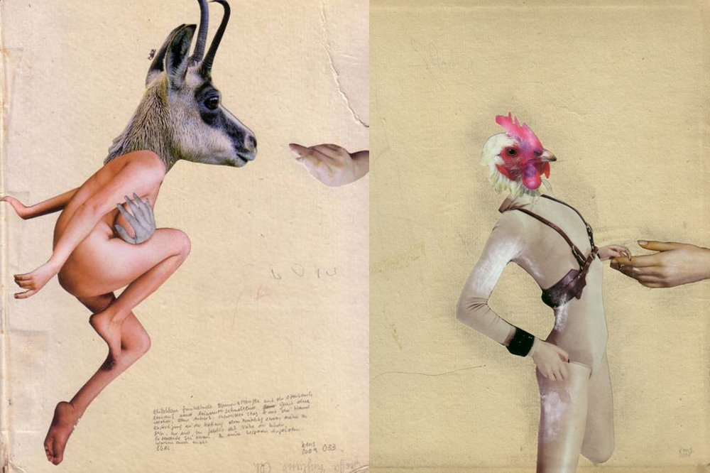 Collage by artist Kerstin Stephan