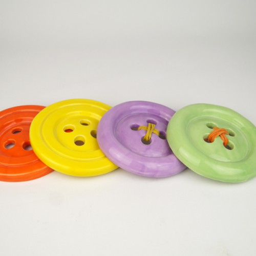 Ceramic buttons by Despoina Xenaki