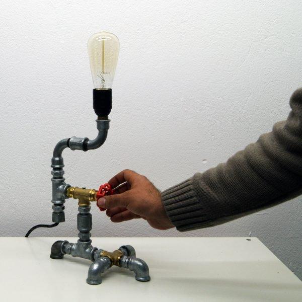 Plumbing desk lamp