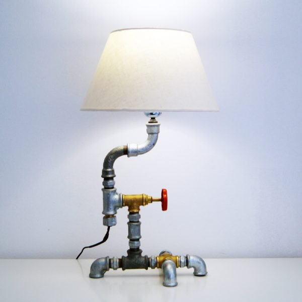 Plumbing pipe lamp