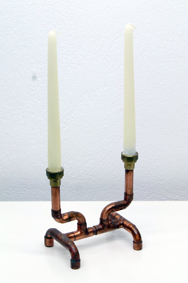 Buy Original Copper Pipe Candle Holder