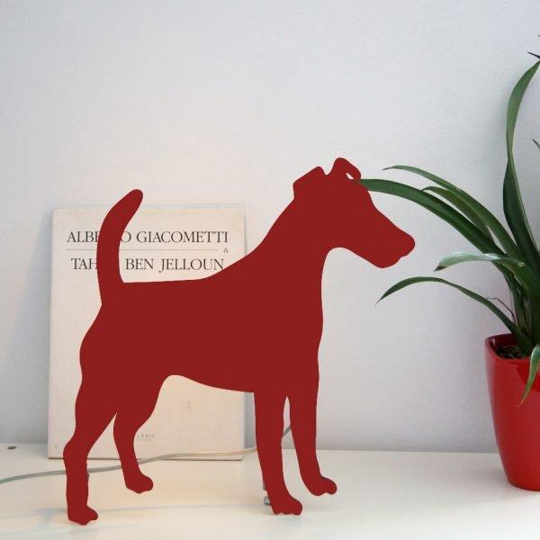 Laser cut dog light