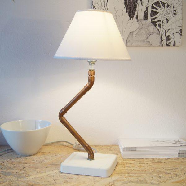 Copper pipe desk lamp