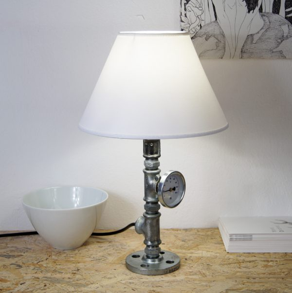 Plumbing pipe desk lamp KIVU