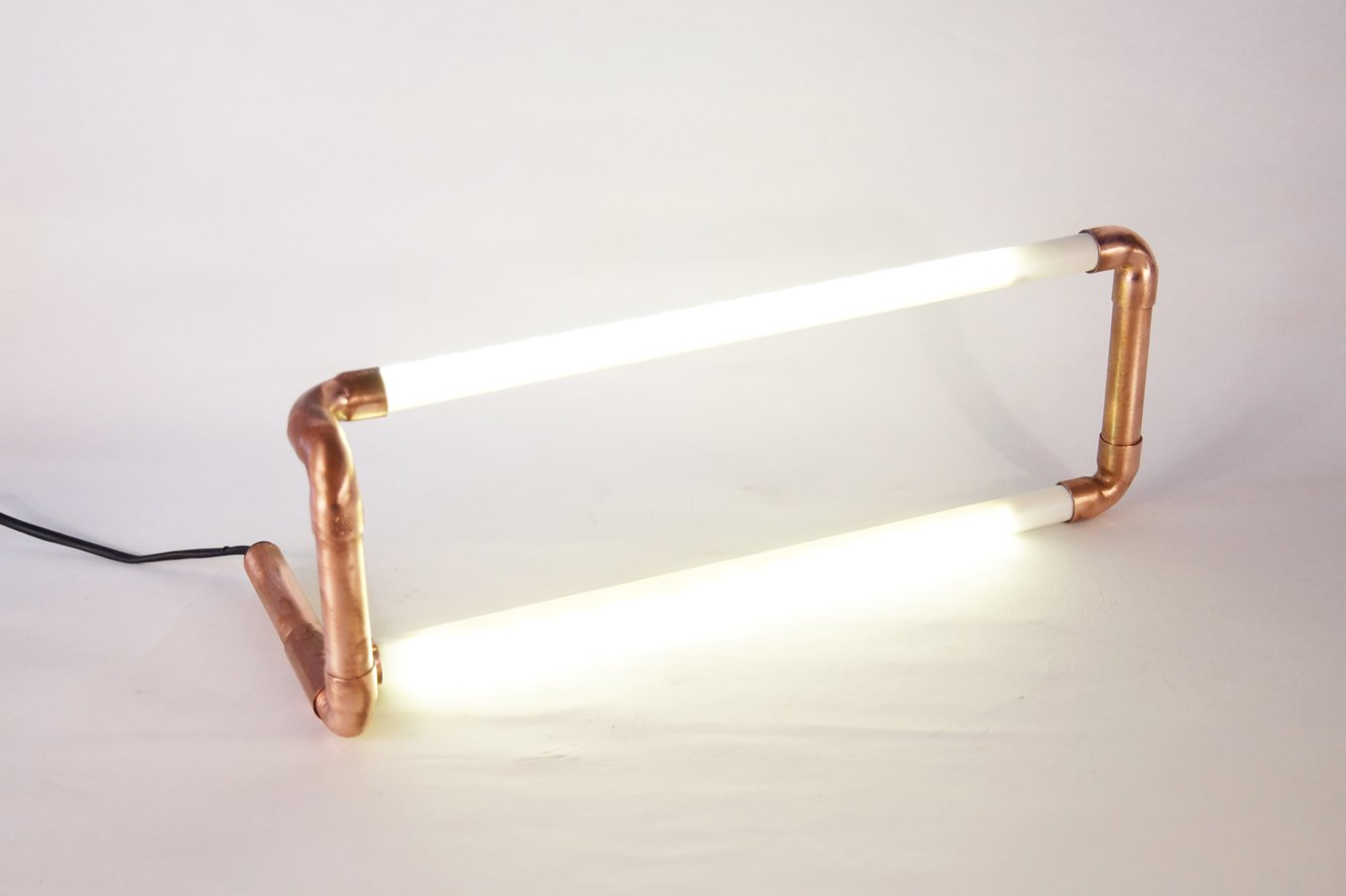 Copper pipe led lamp
