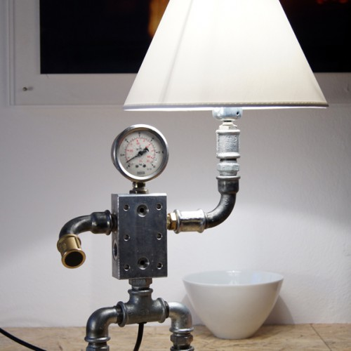 Plumbing Pipe Desk Lamp