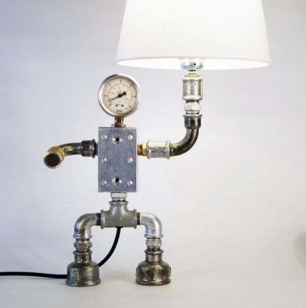Plumbing art lamp