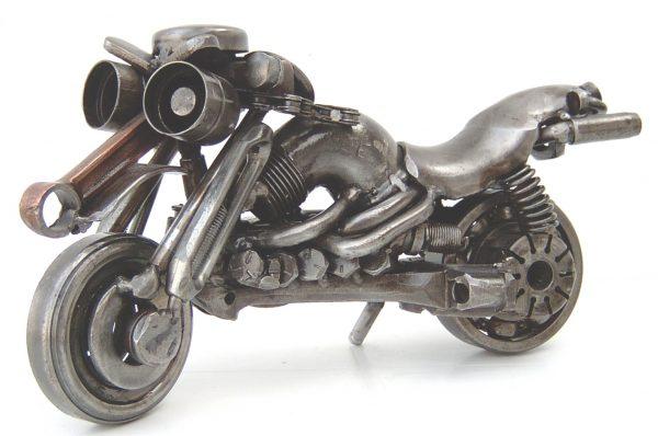 motorcycle metal sculpture