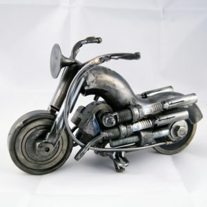 motorcycle metal sculpture
