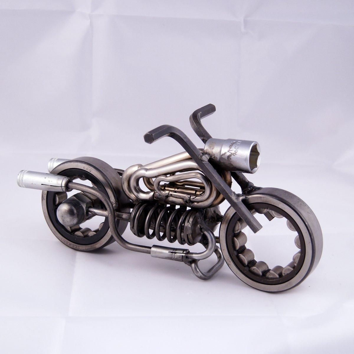 metal motorcycle art ideas - Motorcycle with springs