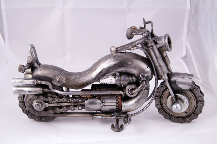 metal motorcycle art ideas
