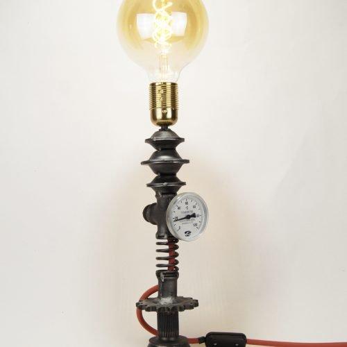 metal sculpture lamp