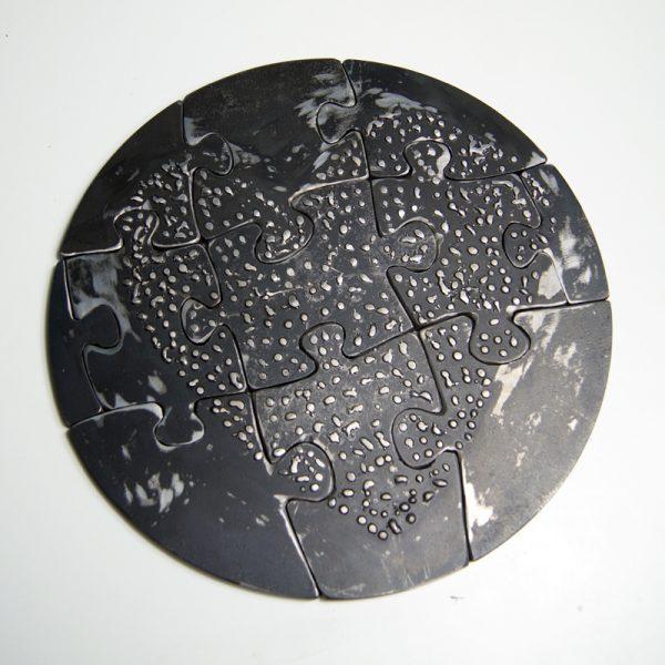 Metal sculpture puzzle