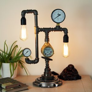 diy pipe lamp