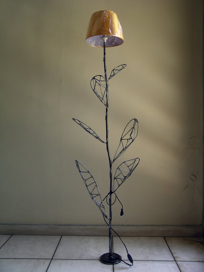Floor lamp flower metal