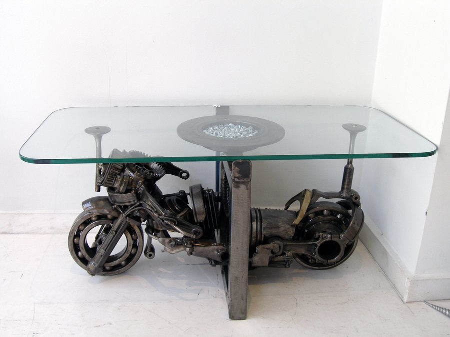 Metal table artwork for sale