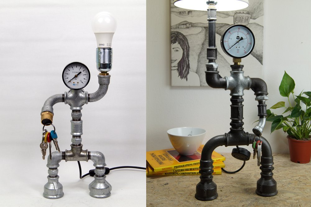 30 fantastic ideas about diy pipe lamp by artist giannis d for How to make a pipe lamp