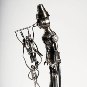pinocchio art metal sculpture