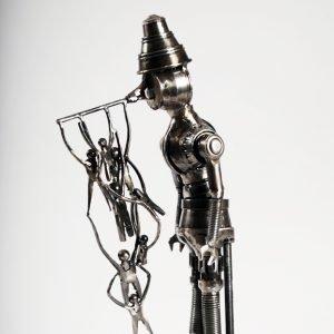 pinocchio art metal sculpture