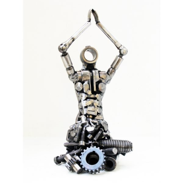 Yoga Metal Sculpture