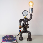 steampunk table lamp industrial