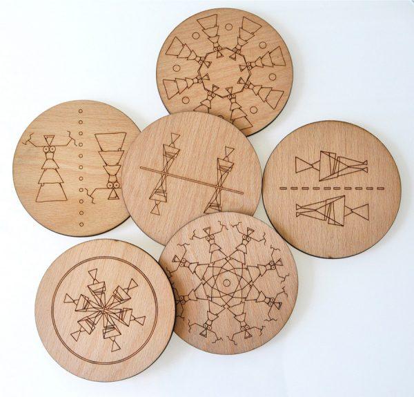 Coasters-wooden-design-cycladic-minoan-3OIAdesign