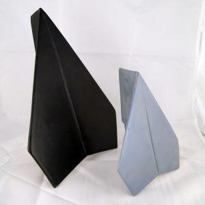 modern ceramic origami plane