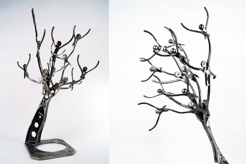 metal sculpture art for sale - tree metal art sculpture