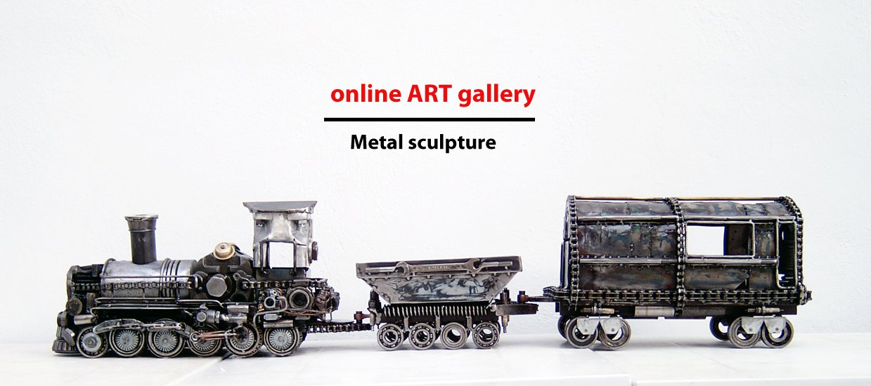 Scrap metal contemporary metal sculpture