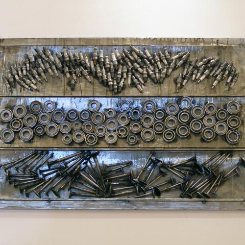 abstract metal wall art