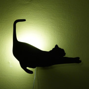 wall cat lamp