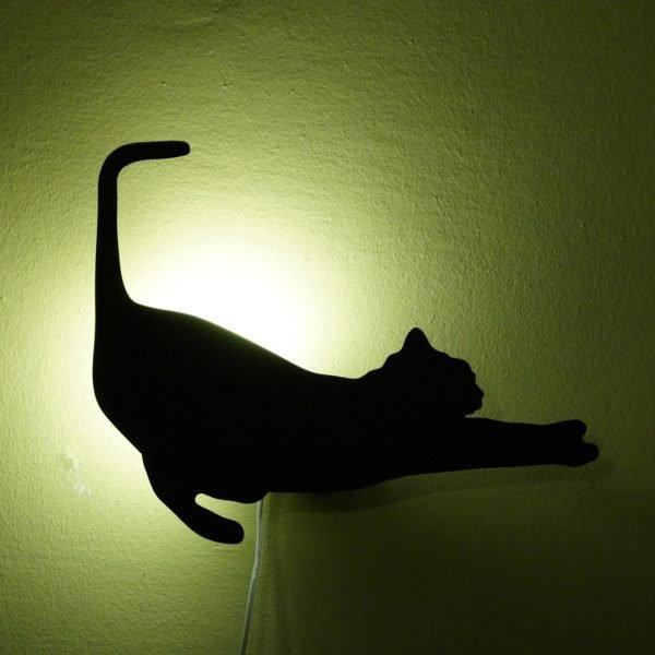 wall cat lamp