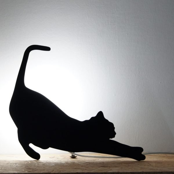 cat table lamp