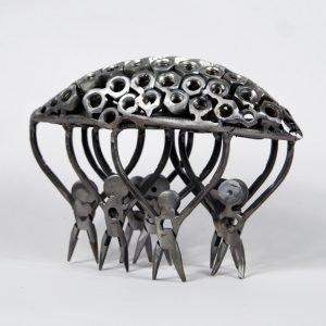 refuge boat art metal sculpture