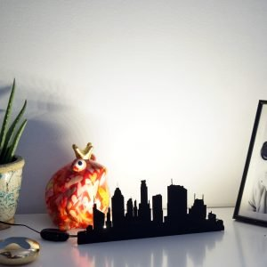 Lighted laser cut city