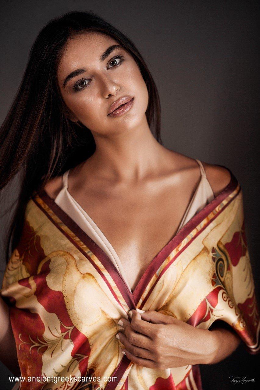 Silk scarf made in Greece / soufli by Kalfas
