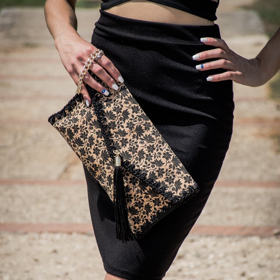 578f56159b Γυναικεία τσάντα φάκελος από φελλό