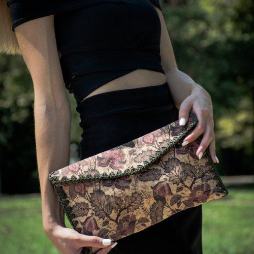 Boho cork bag made in Greece