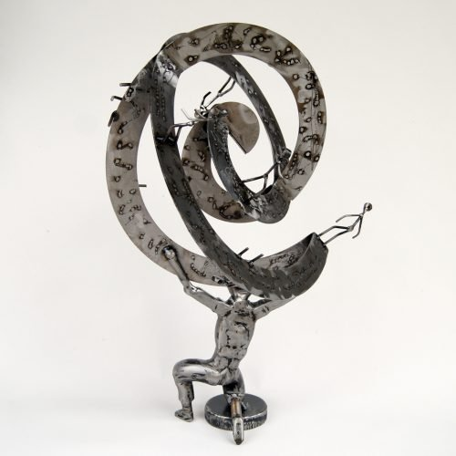 Atlas metal sculpture