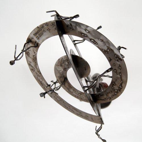Atlas metal sculpture