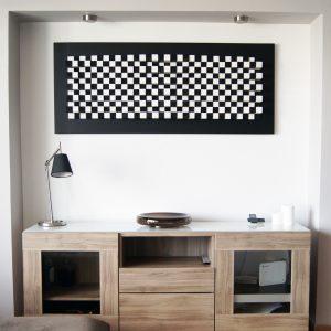 Ξύλινη κατασκευή για τοίχο και sound diffuser