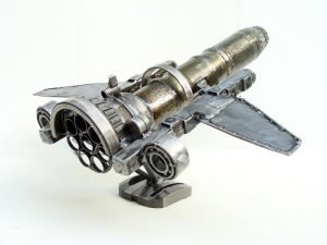 Plane metal art sculptures for sale
